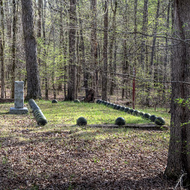 Confederate Mass Grave by Michael McMurray - City,  Street & Park  Cemeteries ( military history )