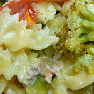Chicken and Bow Tie Pasta.