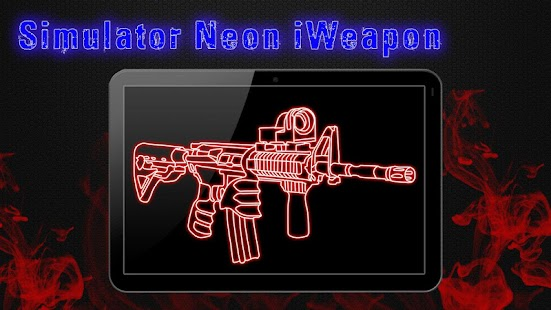 Simulator Neon Weapon Screenshot