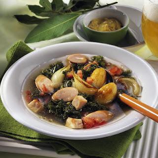 Viennese Sausage & Kale Stew.