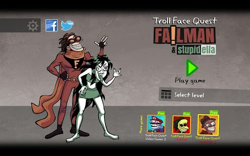 Troll Face Quest: Stupidella and Failman Screenshot