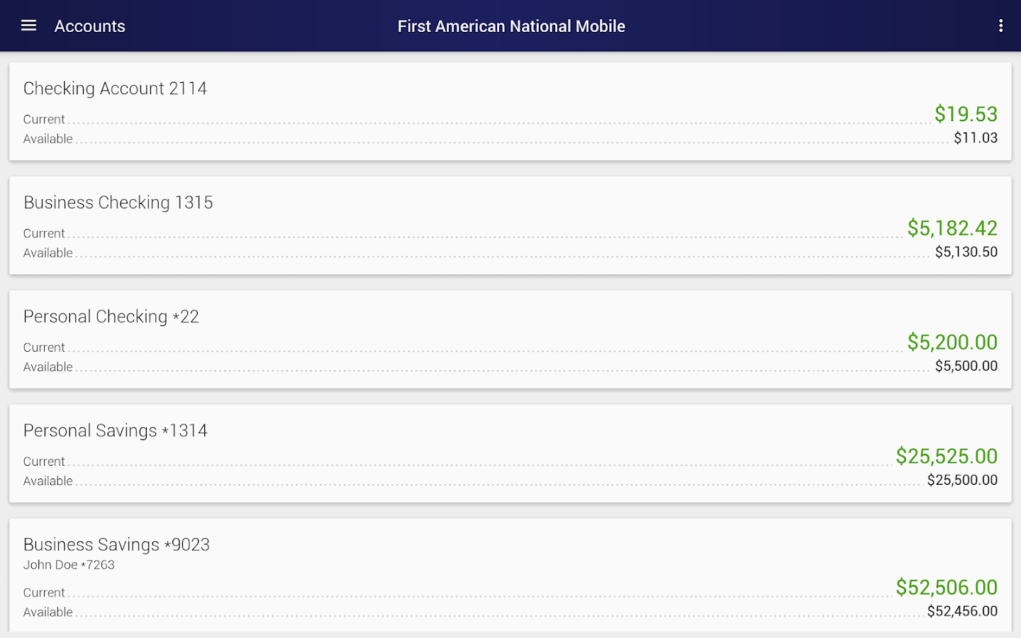 First American National Mobile- screenshot