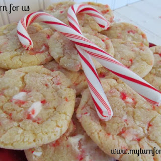 Candy Cane Chewy Cookies.