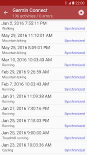 SyncMyTracks - náhled