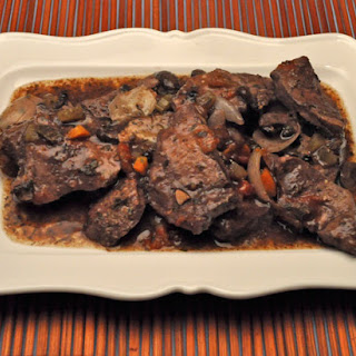 Venison in Red Wine, Slow Cooker.