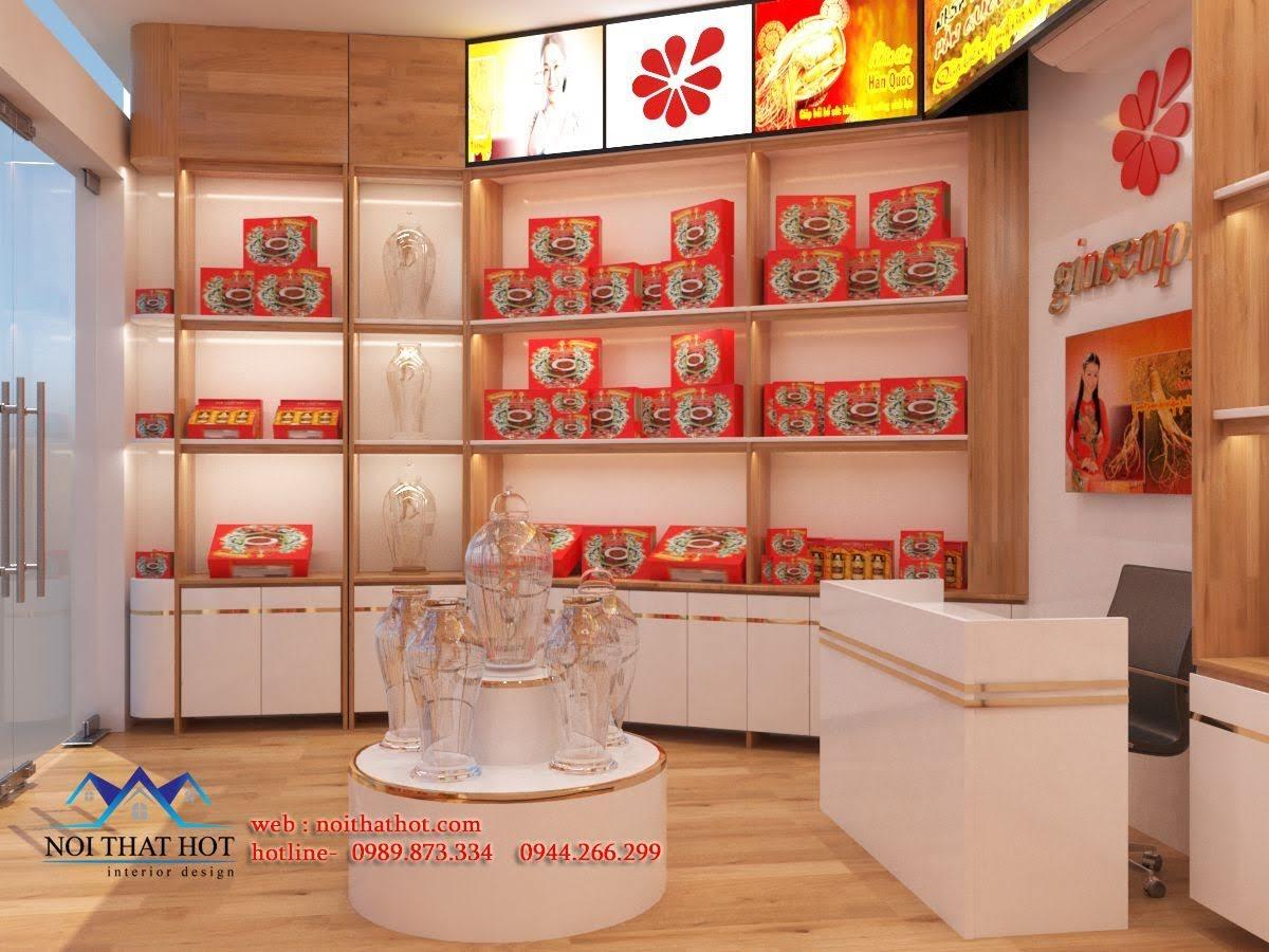 Thiết kế cửa hàng sâm Ginsenplaza.com 3
