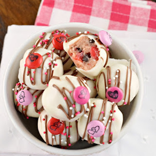 Cherry Chocolate Chip Cookie Dough Truffles.