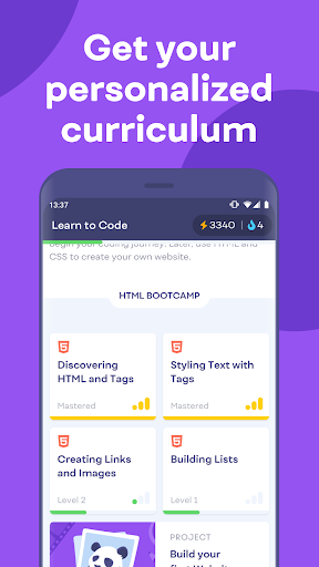 Mimo: Learn coding in JavaScript, Python and HTML 2.31 screenshots 5