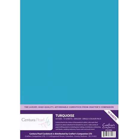 Crafters Companion Centura Pearl Card Pack A4 10Pkg 300gr - Turquoise