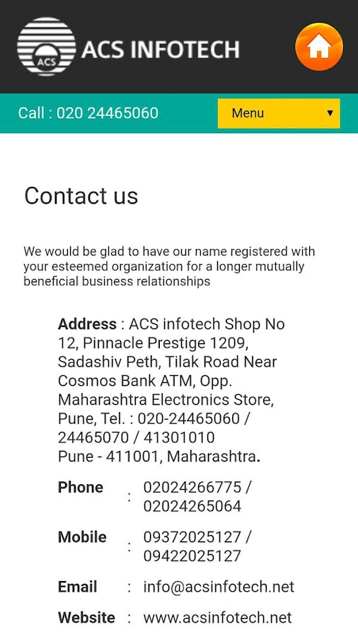 ACS Infotech- screenshot