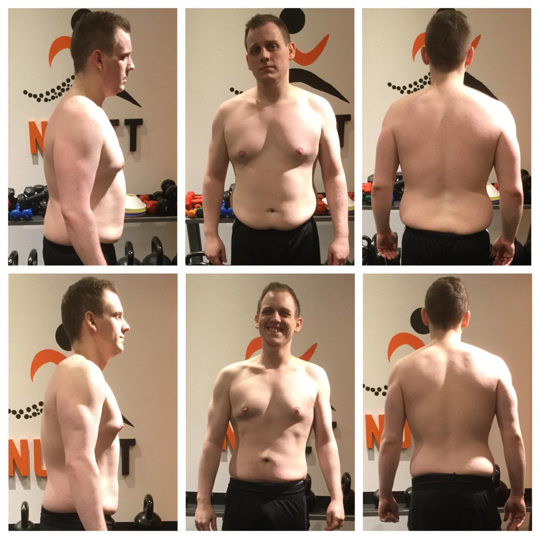 In de kijker - Kevin Billet van 90,6kg naar 75,5kg lichaamsgewicht of van 30,2kg vet naar 14,9kg vet op 3 maanden en een week. Proficiat Kevin!