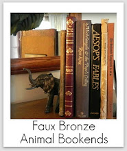 Photo: http://www.madincrafts.com/2011/09/dollar-store-plastic-animal-bookends.html