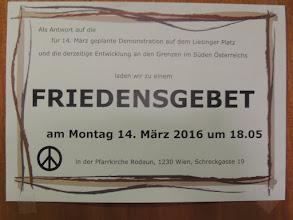 Photo: Plakat - Ankündigung