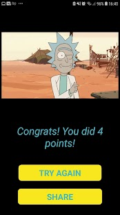 The Best Rick and Morty Quiz Screenshot