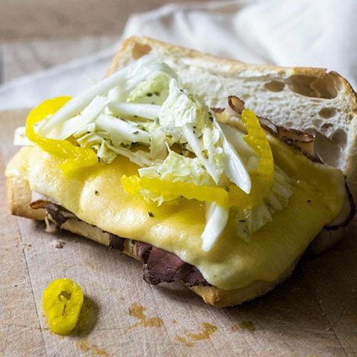 Beef Cheese Hoagie Sandwich Recipe
