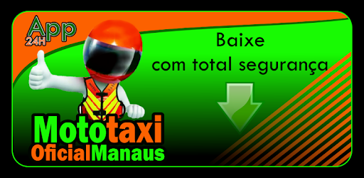 The official Mototaxi application to motorcycle taxi drivers regularized Manaus.