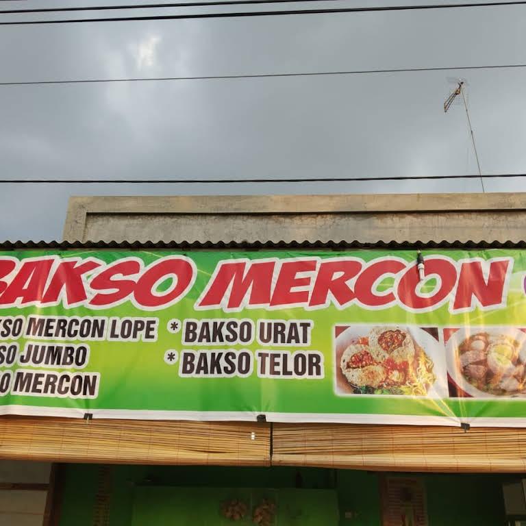 Contoh Banner Bakso Mercon - desain banner kekinian