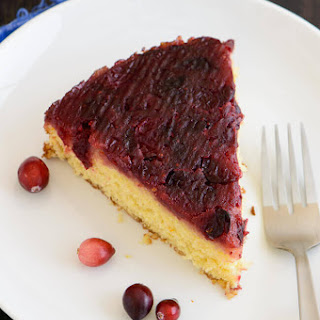 Cranberry Orange Upside-Down Cake.
