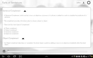 Screenshot of Grade 12 English