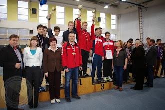 Photo: Podlaska Gimnazjada Strzelecka - w konkurencji karabin pneumatyczny 30 drużyna chłopców II miejsce