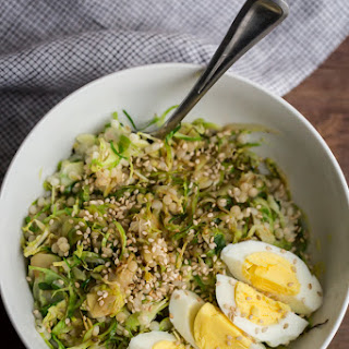Hard Boiled Egg and Brussels Sprout Bowl