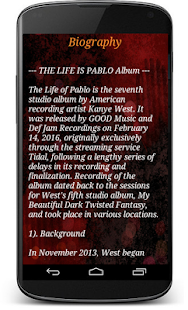 Kanye West new album pablo screenshot