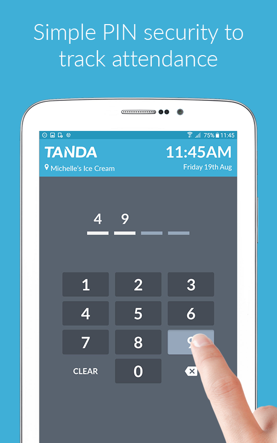 Time Clock by Tanda- screenshot