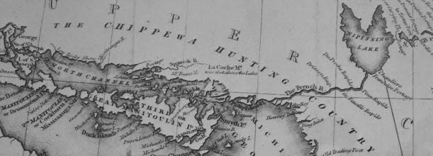 Photo: Ontario map of North Shore, date uncertain
