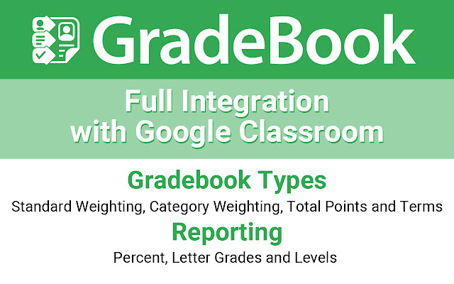 GradeBook for Google Sheets and Classroom - G Suite Marketplace