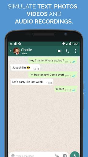 WhatsFake Pretend Fake Chats screenshot