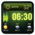Weather Forecast Widget with Battery and Clock download