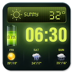 Weather Forecast Widget with Battery and Clock 16.6.0.46770