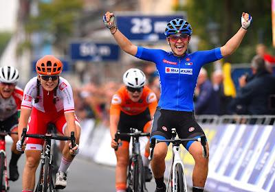 L'Euro Espoirs féminin s'est joué au sprint : l'Italienne Letizia Paternoster (Trek-Segafredo) l'a emporté