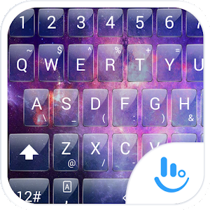 Keyboard Theme Glass Galaxy for PC