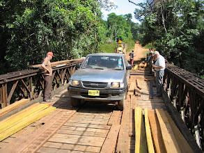 Photo: Rustig rijden over de brug
