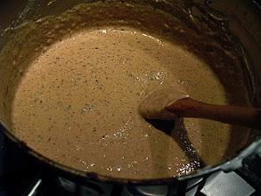 Photo: satay peanut sauce simmering
