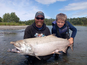 Photo: We also offer trophy fishing for world class King salmon on the Kasilof river.