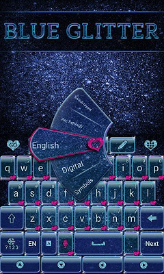 Blue Glitter Keyboard - screenshot