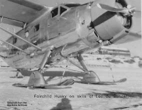 Photo: Fairchild Husky on Skiis in Lac du Bonnet
