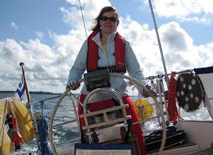 Photo: Pirkko ruorissa kuva vuosimallia 2008