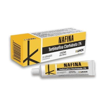 Terbinafina Nafina 1% Crema x 15 g Klinos 1% Crema x 15 g