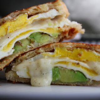 Grilled Avocado and Egg Melt Sandwich.