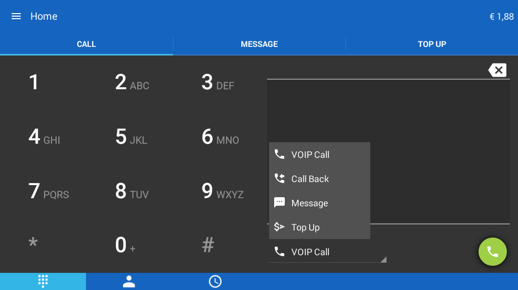 JustVoip voip calls- screenshot