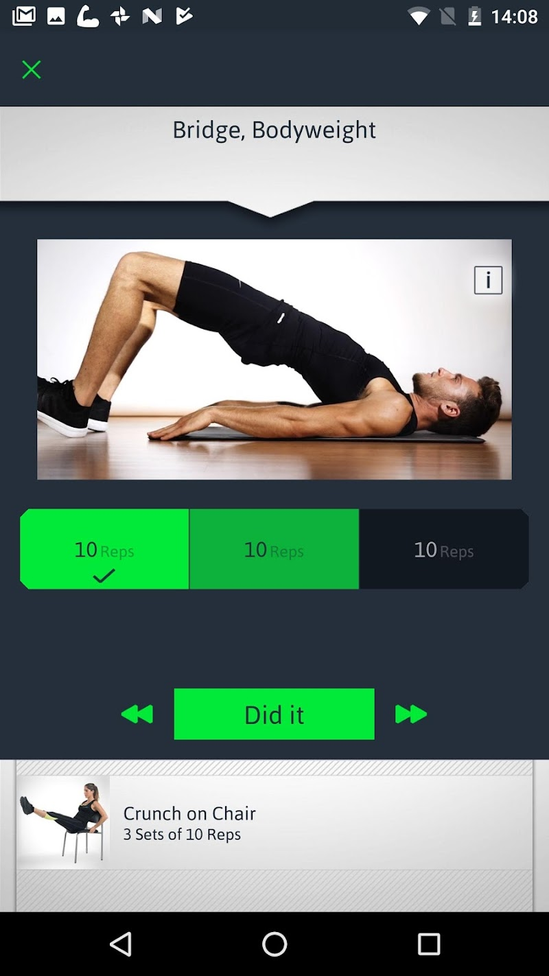 Home Workouts Personal Trainer Screenshot 5