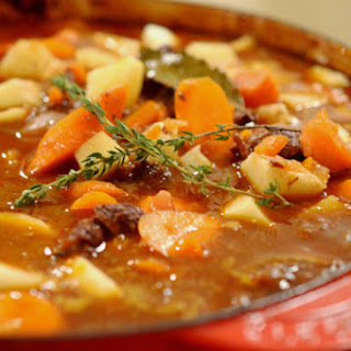 Braised Beef Stew with Potatoes and Carrots.