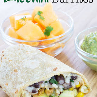 Zucchini Burritos with Special Green Sauce.