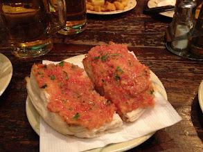 Photo: Tapas -- tomatoes on bread
