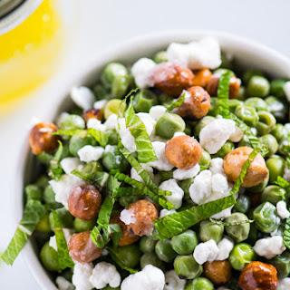 English Pea Salad With Meyer Lemon Vinaigrette.