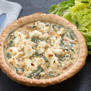 Goat Cheese & Kale Quiches with Butter Lettuce & Chive Salad