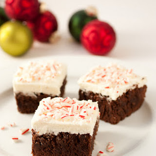 Peppermint Brownies with Peppermint Buttercream Frosting {Recipe}